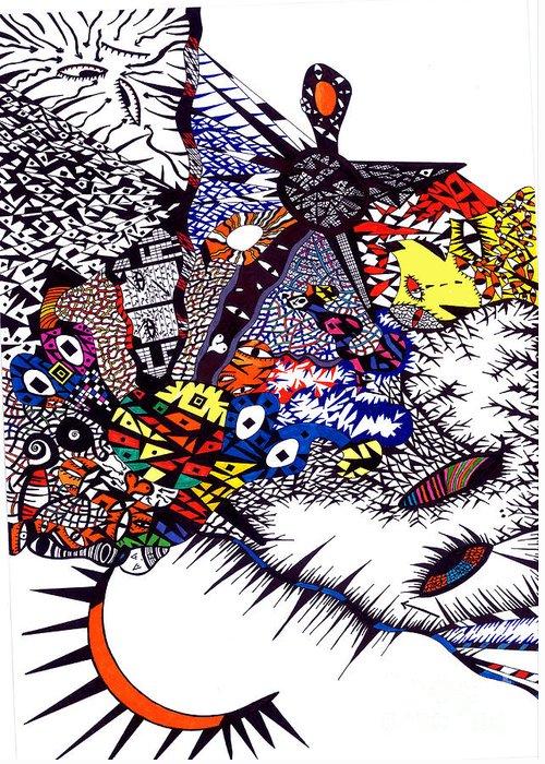Feelings Greeting Card featuring the painting My Feelings by Safak Tulga