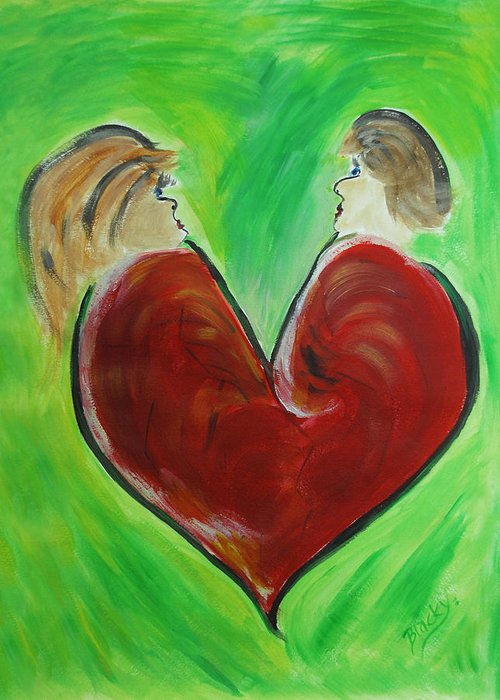 Valentine Greeting Card featuring the painting My Funny Valentine by Donna Blackhall