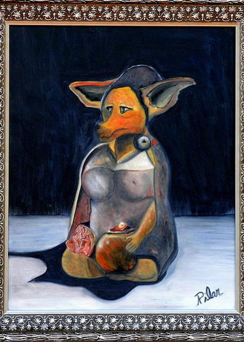 Dog Greeting Card featuring the painting My Life As A Dog by Pilar Martinez-Byrne