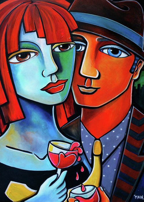 Art For Saleart Prints Greeting Card featuring the painting My Love Is Contagious by Jennifer Main
