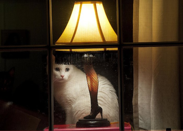 Leg Lamp Greeting Card featuring the photograph My Major Award by Kenneth Albin