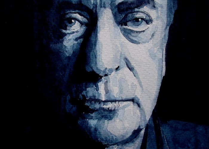 Michael Caine Greeting Card featuring the painting My Name Is Michael Caine by Paul Lovering