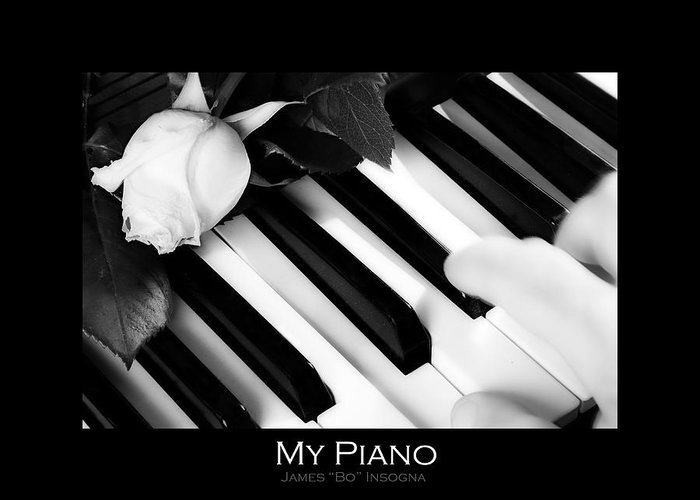 Piano Greeting Card featuring the photograph My Piano Bw Fine Art Photography Print by James BO Insogna