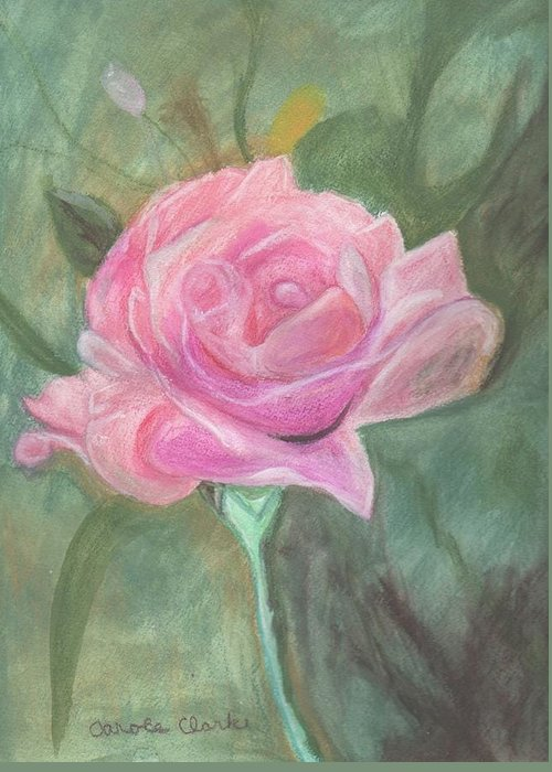 Pink Greeting Card featuring the pastel My Wild Irish Rose by Carole Clark