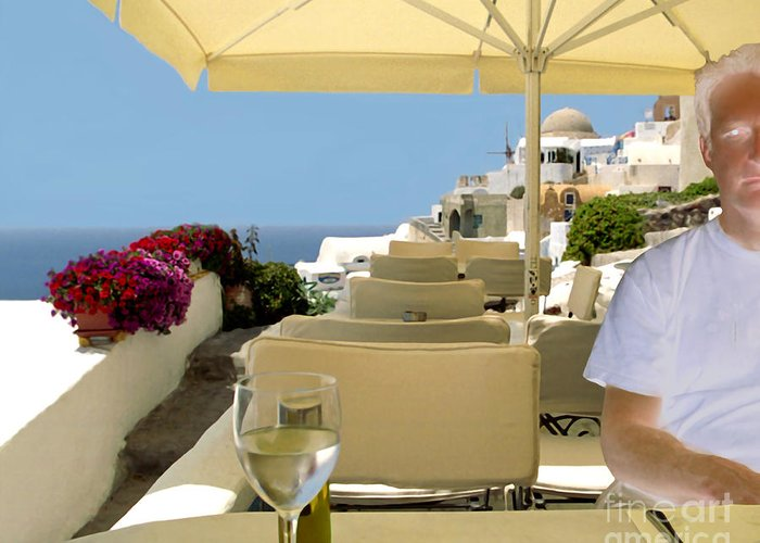 Restaurant Greeting Card featuring the photograph Mykonos Restaurant by Madeline Ellis
