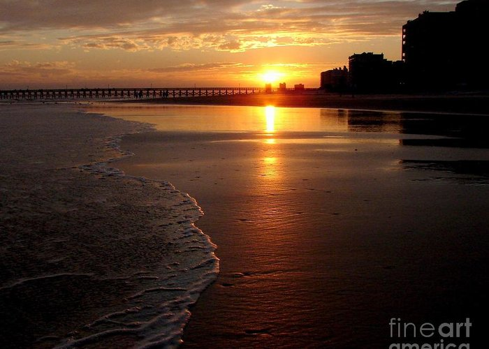 Sunset Greeting Card featuring the photograph Myrtle Beach Sunset by Patricia L Davidson