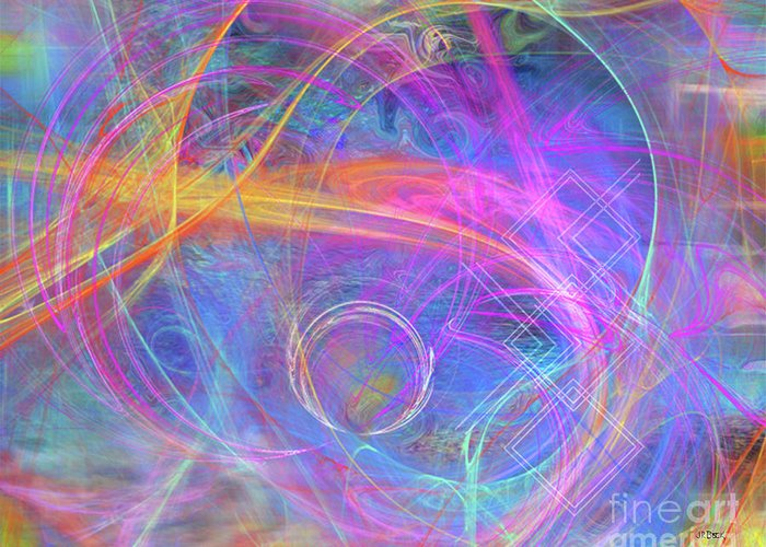Mystic Beginning Greeting Card featuring the digital art Mystic Beginning by John Beck