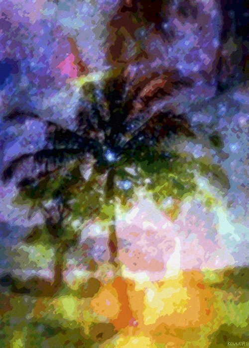 Tropical Interior Design Greeting Card featuring the photograph Mystic Palm by Kenneth Grzesik