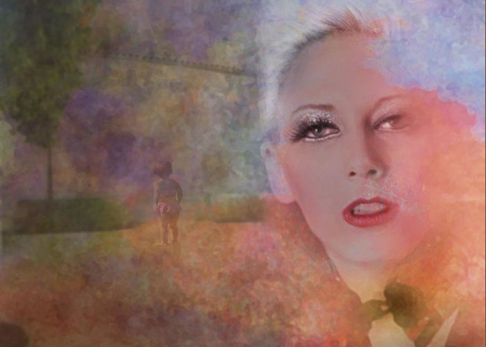 Woman Greeting Card featuring the photograph Mystic Woman by Jeff Burgess
