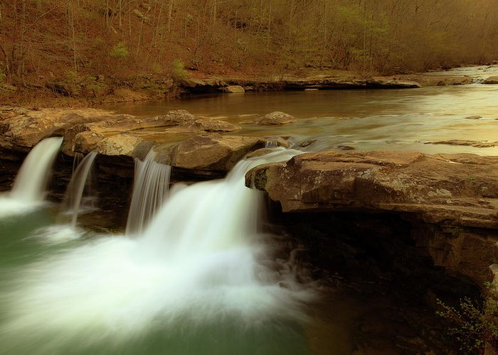 Landscape Greeting Card featuring the photograph Mystical King River Falls by Iris Greenwell