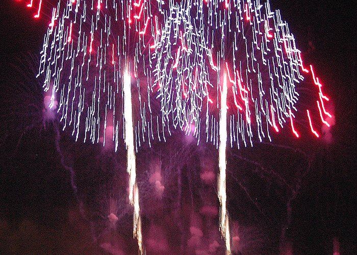 Fireworks Greeting Card featuring the photograph Name That Tune by Dan Fulk