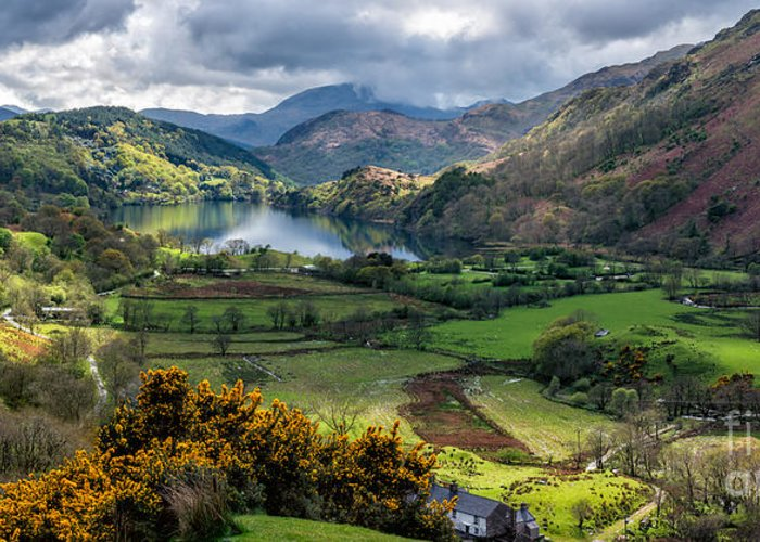Gwynant Lake Greeting Card featuring the photograph Nant Gwynant Valley by Adrian Evans