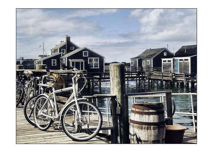 Nantucket Greeting Card featuring the photograph Nantucket Bikes 1 by Tammy Wetzel