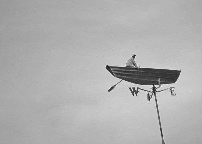 Nantucket Greeting Card featuring the photograph Nantucket Weather Vane by Charles Harden