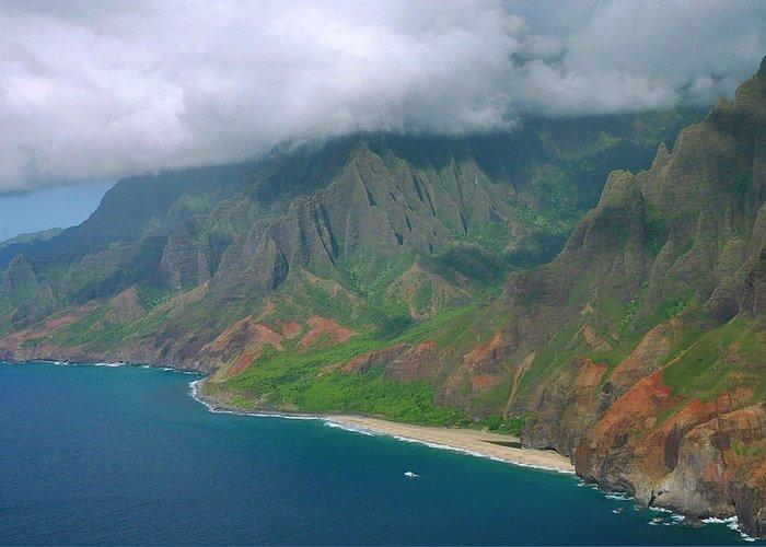 Napali Coast Greeting Card featuring the photograph Napali Coast - Kauai by Stephen Vecchiotti