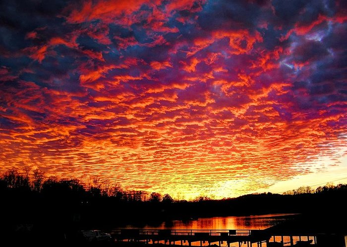 Sunset Greeting Card featuring the photograph Napalm Clouds by Andrew Webb