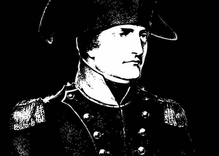 Napoleon Greeting Card featuring the digital art Napoleon Bonaparte by War Is Hell Store