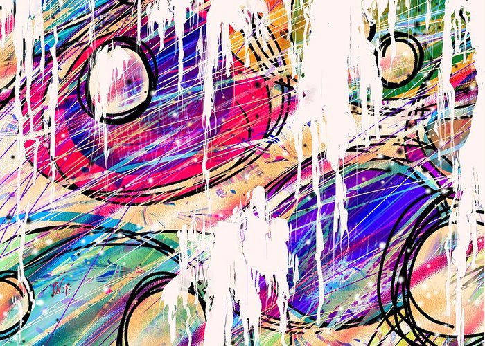Abstract Greeting Card featuring the digital art Narcotics Of The Mind by Rachel Christine Nowicki