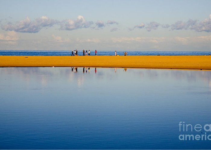 Dunes Lowry Sand Sky Reflection Sun Lifestyle Narrabeen Australia Greeting Card featuring the photograph Narrabeen Dunes by Sheila Smart Fine Art Photography