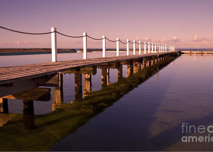 Narrabeen Sydney Sunrise Wharf Walkway Greeting Card featuring the photograph Narrabeen sunrise by Sheila Smart Fine Art Photography
