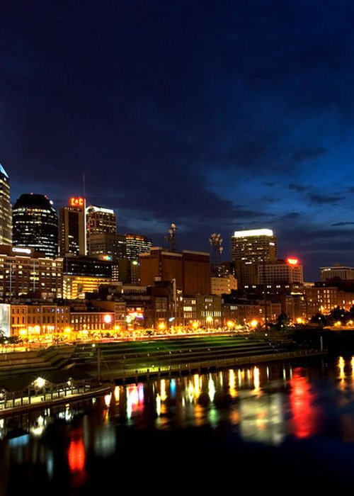Nashville Greeting Card featuring the photograph Nashville Skyline by Mark Currier