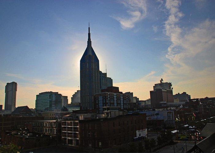 Nashville Photos Greeting Card featuring the photograph Nashville Skyline by Susanne Van Hulst