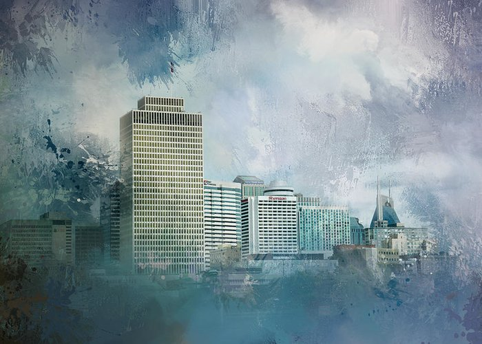 Buildings In Nashville Greeting Cards
