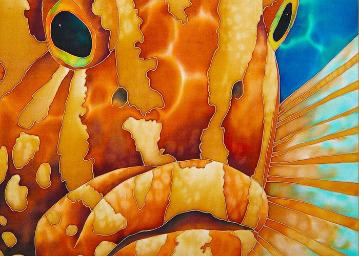 Grouper Painting Greeting Card featuring the painting Nassau Grouper by Daniel Jean-Baptiste