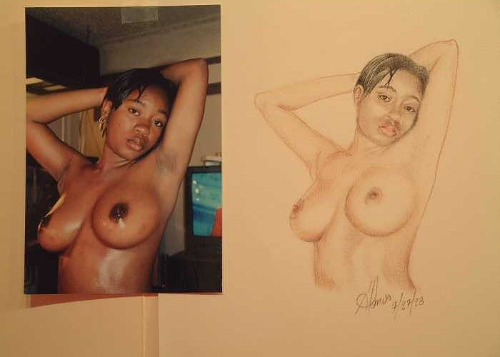 Nudes Greeting Card featuring the painting Natasha by Benito Alonso