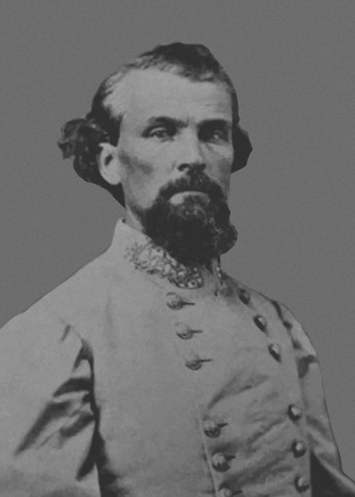 Nathan Bedford Forrest Greeting Card featuring the painting Nathan Bedford Forrest by War Is Hell Store