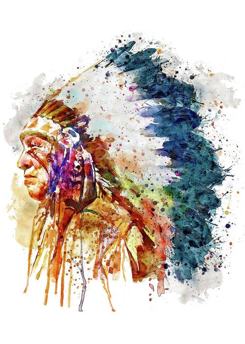 Colorful American Indian Greeting Cards