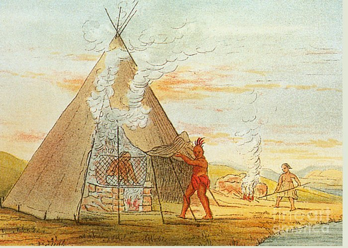 Medical Greeting Card featuring the photograph Native American Indian Sweat Lodge by Science Source