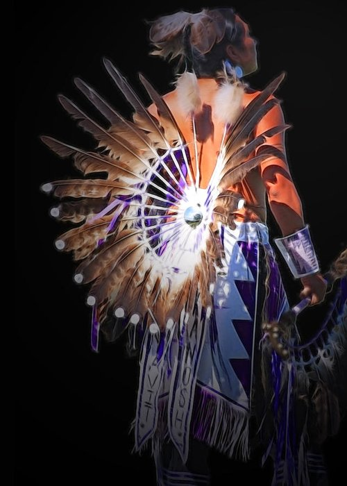 Native Greeting Card featuring the photograph Native Spirit by Gene Praag