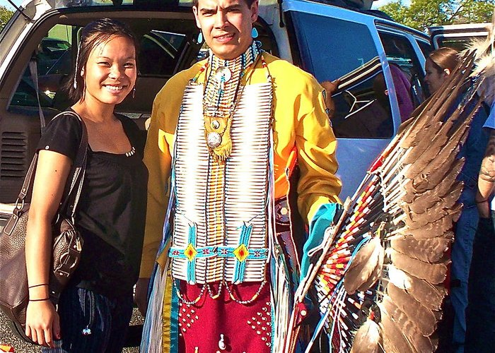 Native vietnamese meets native american greeting card for sale by pow wow greeting card featuring the photograph native vietnamese meets native american by chuck taylor m4hsunfo