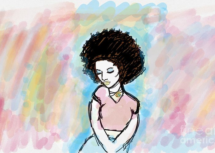 Natural Greeting Card featuring the digital art Natural Chic by Asia Wilson