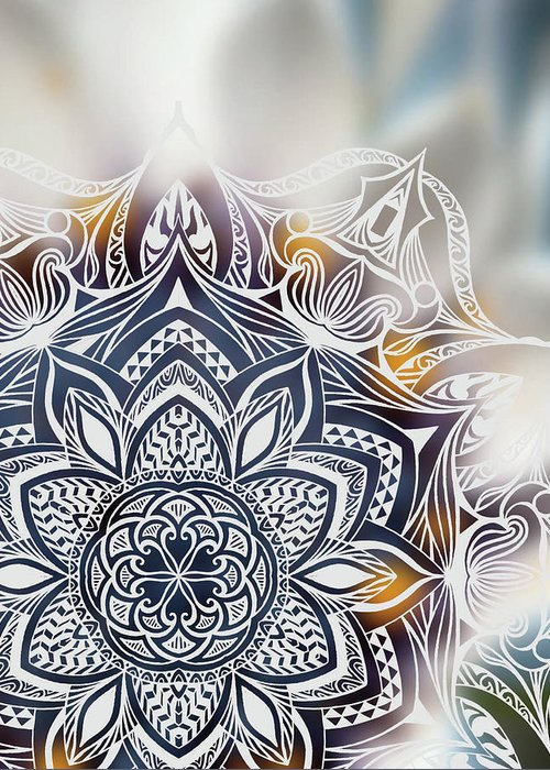 Nature Greeting Card featuring the digital art Nature And Mandala by Beltolls Art