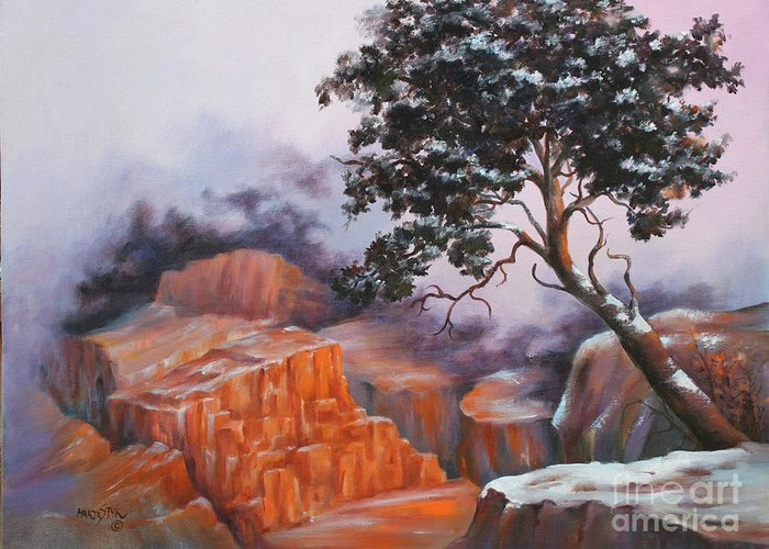 Landscape Greeting Card featuring the painting Nature At Rocky Kingdom by Marta Styk