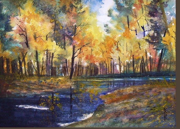 Ryan Radke Greeting Card featuring the painting Nature's Glory by Ryan Radke