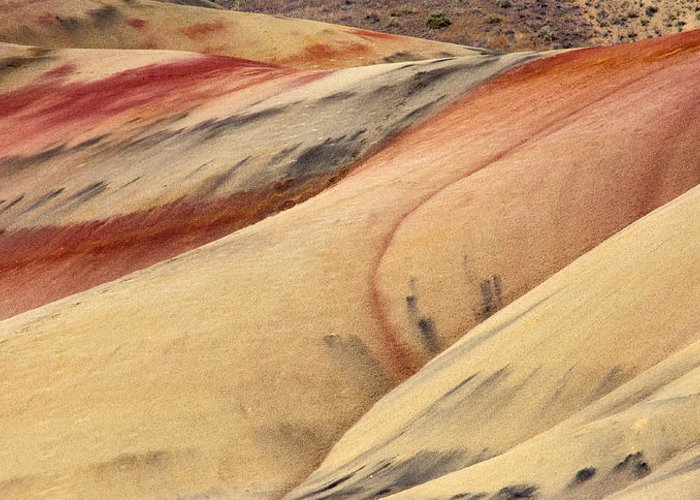 Painted Hills Greeting Card featuring the photograph Nature's Palette by Mike Dawson