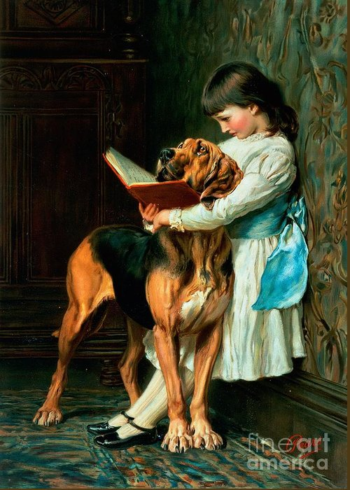 Naughty Greeting Card featuring the painting Naughty Boy Or Compulsory Education by Briton Riviere