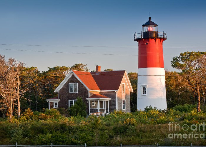 Barnstable County Greeting Card featuring the photograph Nauset Beach Light by Susan Cole Kelly