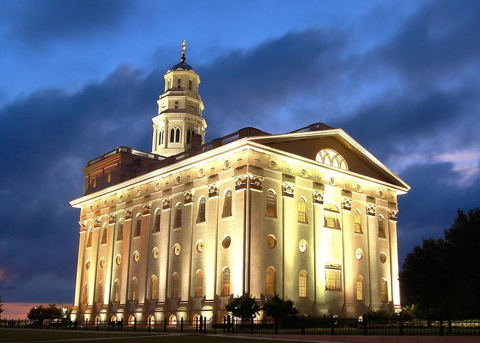 Salt Lake Temple Greeting Card featuring the photograph Nauvoo Temple by John Wunderli
