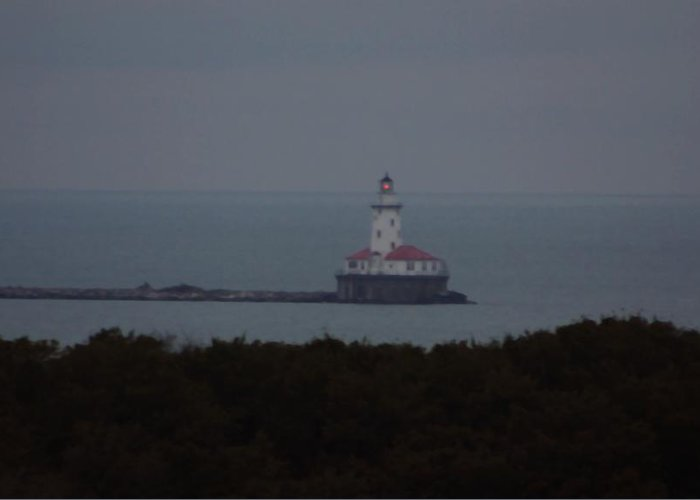 Lighthouse Greeting Card featuring the photograph Navy Pier Lighthouse by Kenna Westerman