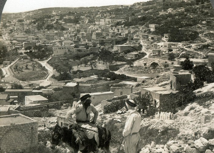 1920s Greeting Card featuring the photograph Nazareth, Palestine, C1920 by Granger