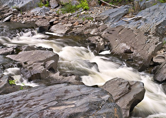 Rock Greeting Card featuring the photograph Near Barrow Falls by Peter J Sucy