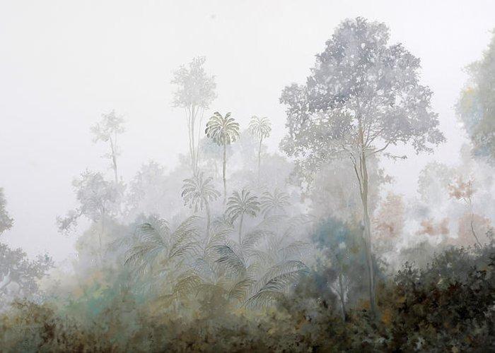 Fog Mist Paintings Greeting Cards