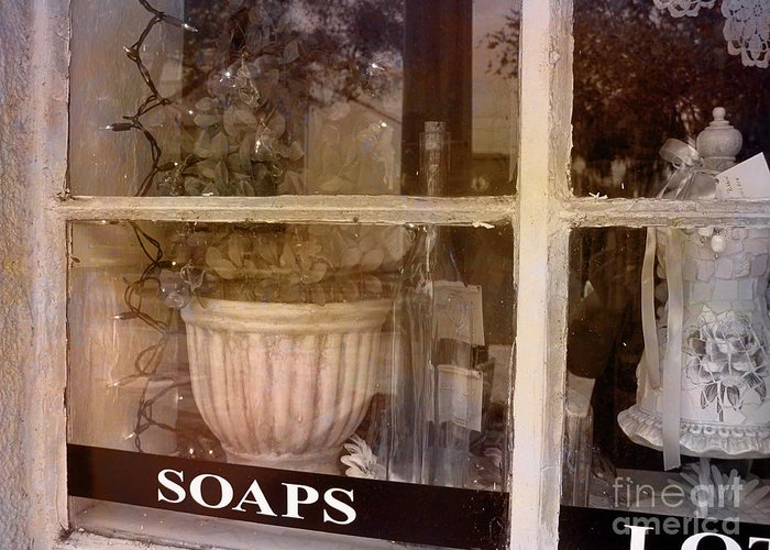 Retro Greeting Card featuring the photograph Need Soaps by Susanne Van Hulst