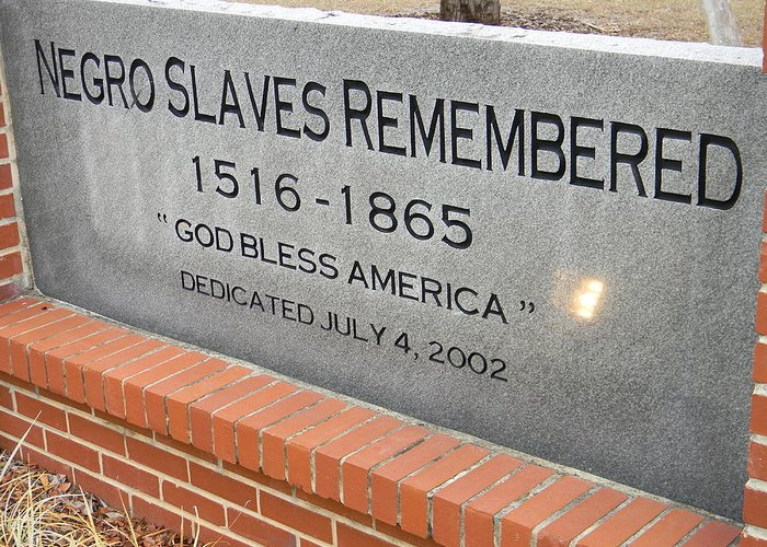 Negro Slaves Remembered Greeting Card featuring the photograph Negro Slaves Remembered by Warren Thompson
