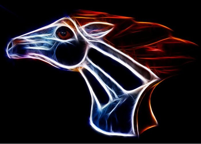 Bronco Greeting Card featuring the photograph Neon Bronco II by Shane Bechler