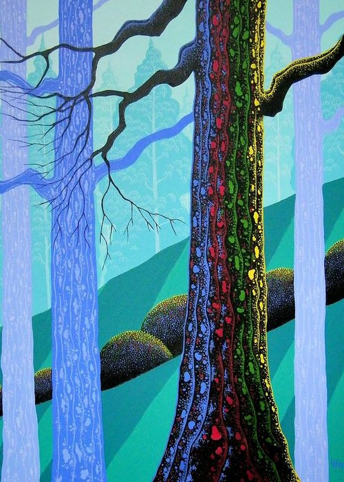 Forest Paintings Greeting Cards